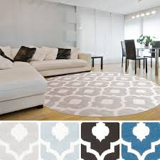 D Zephyr Contemporary Trellis Area Rug7u002710 Round  Overstockcom Shopping  U2013 The Best Deals On RoundOvalSquare