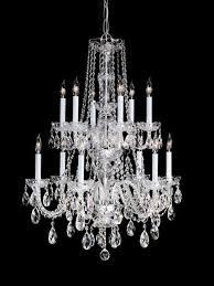 crystorama traditional crystal 12 light clear crystal chrome chandelier iii