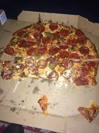 the pizza was terrible it was cold dry and didn t taste fresh at all sandra davis domino s pizza review