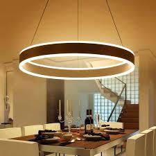 modern led ring pendant lights for dinning room living restaurant kitchen white suspended lamp light revit modern circular ring pendant lights
