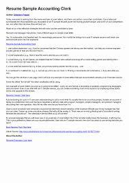 Sample Resume Accounting Clerk Sample Resume Accounting Clerk Canada at Resume Sample Ideas 2