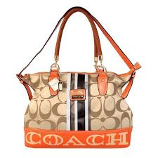 Coach Braided In Signature Large Khaki Totes BFU