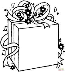 Small Picture Birthday gift package coloring page Free Printable Coloring Pages