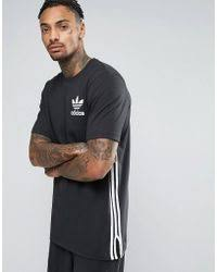 adidas 83 c t shirt. adidas originals | longline t-shirt in black bp8876 lyst 83 c t shirt