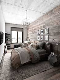 a masculine bedroom where has a window