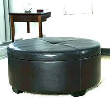 round leather coffee table ottoman black ikea