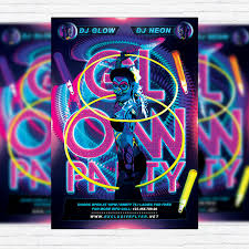 glow flyer glow party premium flyer template facebook cover exclsiveflyer