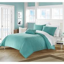 chic home 4 piece kingston turquoise duvet cover set