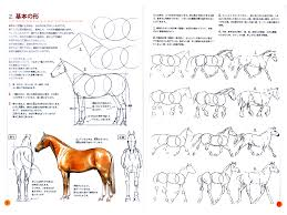 how to draw horse tutorial reference book anime books