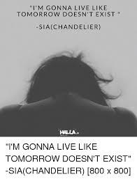 chandelier express and live i m gon na live like tomorrow