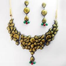 premium necklace design terracotta jewellery teje0256