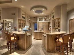 unique kitchen design with two islands