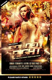 Night Club Flyer Golden Night Club Party Flyer - Flyer And Vector ...