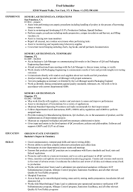 Lab Technician Resume Sample Senior Lab Technician Resume Samples Velvet Jobs 65