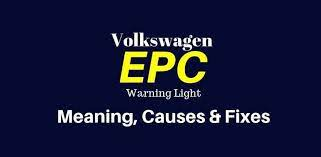 epc light on vw audi meaning
