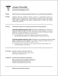 Resume Template Nursing Aide Resume Sample Behtarinmarket Com