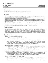 Objective Of Front End Web With Microsoft Office Word Resume