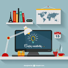Graphic designers office Home Designers Office Flat Illustration Free Vector Creative Bloq Designers Office Flat Illustration Vector Free Download