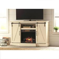 enchanting tv stand electric fireplace with sliding barn door in white white electric fireplace tv stand