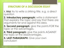 how to write an essay structure of a discussion essay