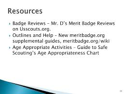 Guide To Safe Scouting Chart Ppt Merit Badges Troop Meetings Powerpoint Presentation