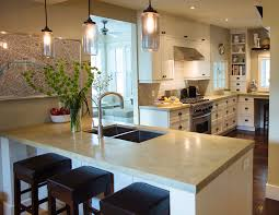 kitchen design island or peninsula. an island is often used when space not a concern as it needs good amount of room (minimum 36\ kitchen design or peninsula