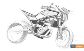 husqvarna 900cc street bike sketches