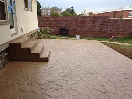 stamped concrete patio. Concrete Patio With Steps Stamped