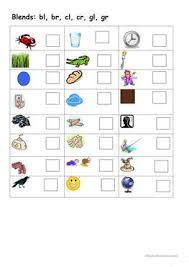 Build & write digraph spelling mats. English Esl Blends Worksheets Most Downloaded 28 Results