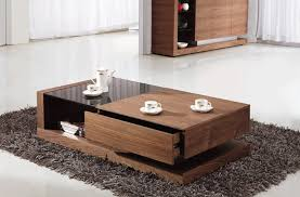 large coffee table with storage idea