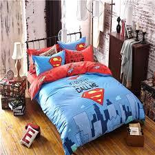 superman comforter superman printed bedding set for boys kids marvel superhero duvet cover sheet pillowcase comforter