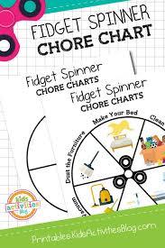 Fidget Spinner Chart Fidget Spinner Chore Chart Printable