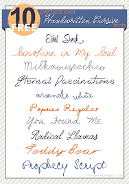 Best Ever Handwritten Cursive Fonts Moritz Fine Designs