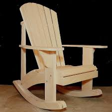 Adirondack Rocking Chair Plans DWG files for CNC machines