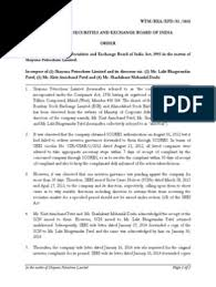 Order in respect of (1) Shayona Petrochem Limited and its directors ...