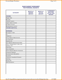 Monthly Income And Expenses Home Daycare Tax Worksheet Personal Income And Expenses