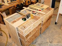 building a workbench. workbench chest of drawers building a