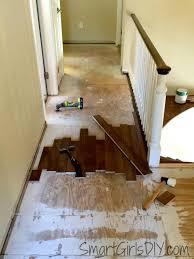 how to install laminate on stairs upstairs hallway 1 installing hardwood floors