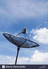 Tv Dish Antenna Are Designed Black Satellite Dish Or Tv Antennas Install On The House