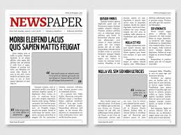 Custom Newspaper Template Newspaper Vectors Photos And Psd Files Free Download