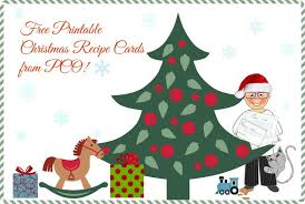 Printable Christmas Recipe Cards Free Printable Recipe Cards For Christmas Pastry Chef Online