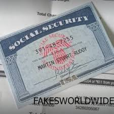 Social Security X Documents Card - Archives Store Fake Notes