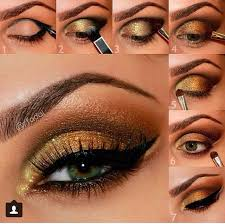 this tutorial is designed to show you step by step how to create a dramatic super smoky green and gold eye look