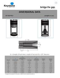 Drill Pipe Float Valve Size Chart Keystone Energy Tools Product Catalogue