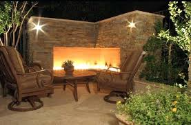 outdoor corner fireplace kits