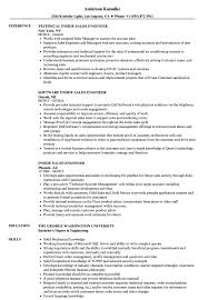 Inside Sales Engineer Resume Samples | Velvet Jobs