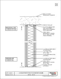 ss 210 2 hour parion to concrete slab