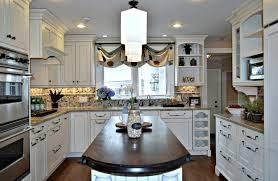 kitchen dark hardwood floor white cabinets westchester