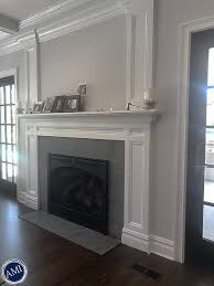 flamed granite fireplace hearth and facade north s residence long island new york associated marble industry