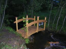 8 foot bridge build by jeff over a creek